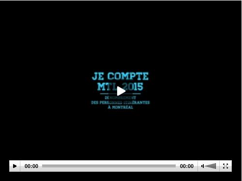 Vidéo Je compte MTL 2015
